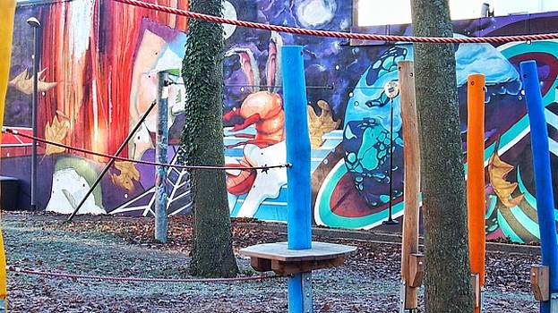 Artistic graffiti playground 2 by Marco De Mooy