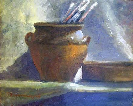 Artist's Brushes by George Siaba