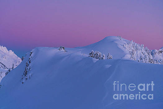 Artists Point Dusk Snowscape by Mike Reid