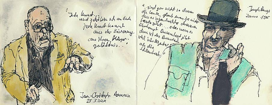 Artsy Conversation Colored Sketchbook Drawings by Martin Stankewitz