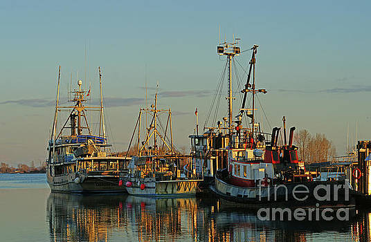 As the Sun Goes Down on the Fishing Boats by Randy Harris