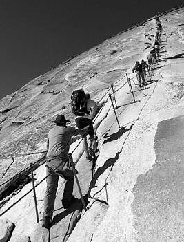 Ascending Half Dome by Ryan Scholl