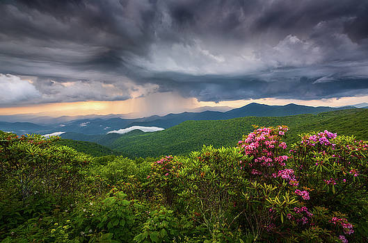 Asheville North Carolina Blue Ridge Parkway Thunderstorm Scenic Mountains Landscape Photography by Dave Allen