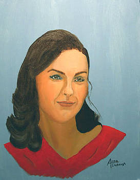 Ashley Judd Portrait by Arno Clabaugh