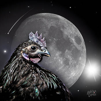 Ashton against a Full Moon sky by Dorothy Roberts-Johnston