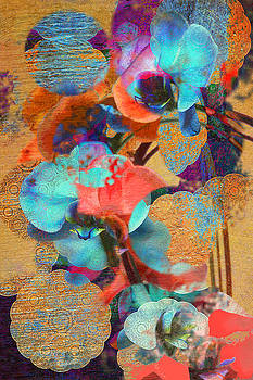 Asian Orchid Abstract by Suzanne Powers