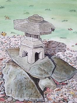 Asian Stone Pagoda Lantern I by Jennifer Niemiroski