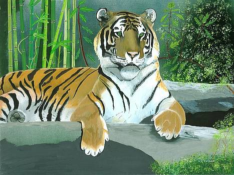 Asian Tiger - Majestic Guard by William Demboski