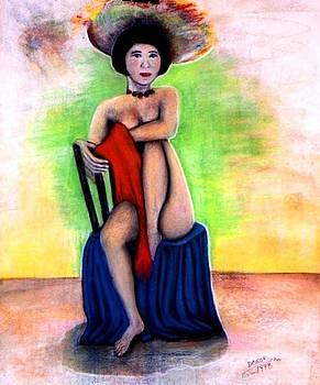 Asian Woman with a Hat by Patricia Velasquez de Mera