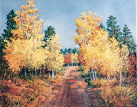 Aspen Shadows by Donna Clair