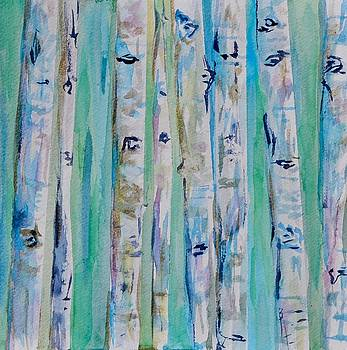 Aspens Abstract I by Beverley Harper Tinsley
