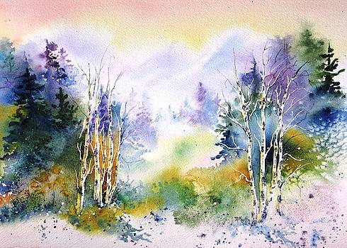 Aspens in Winter by Donna Martin