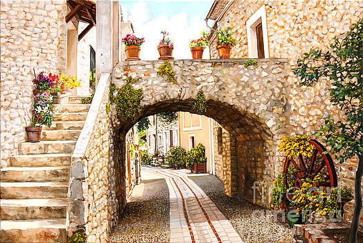 Aspremont village In Provence by Dominique Amendola