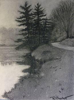Bass Lake Study by Regina Calton Burchett