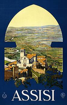 Assisi, travel poster 1920 by Vintage Printery