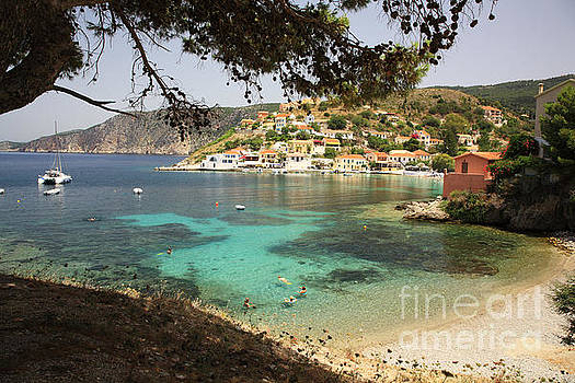 Assos village in Kefalonia by Deborah Benbrook