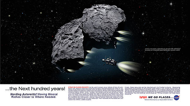 James Vaughan - Asteroid Herding - text