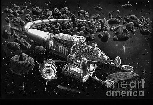 Asteroid Mining Train by Murphy Elliott