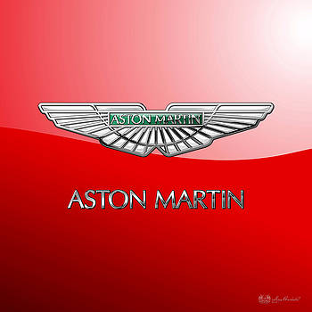 Serge Averbukh - Aston Martin - 3 D Badge on Red