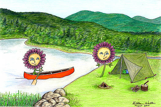 Astors Camping by Kathleen Walker