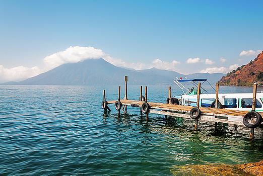 Astounding View of Volcano San Pedro at lake Atitlan, Guatemala by Daniela Constantinescu