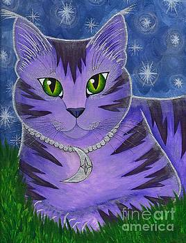Astra Celestial Moon Cat by Carrie Hawks