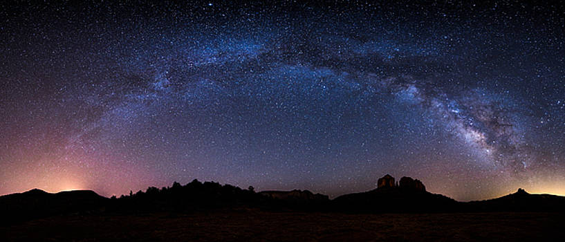 Astro Bridge over Cathedral Rocks by Larry Pollock
