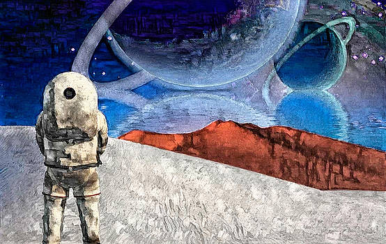 Astronaut on exosolar planet by Bruce Rolff