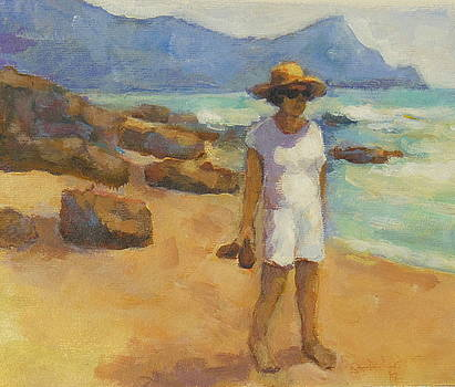 At the Beach by Alfons Niex