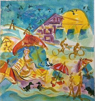 At the Beach by Joyce Lieberman