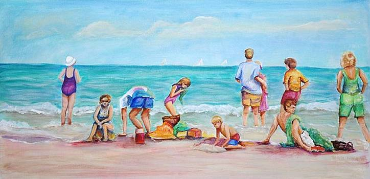 At the beach by Patricia Piffath