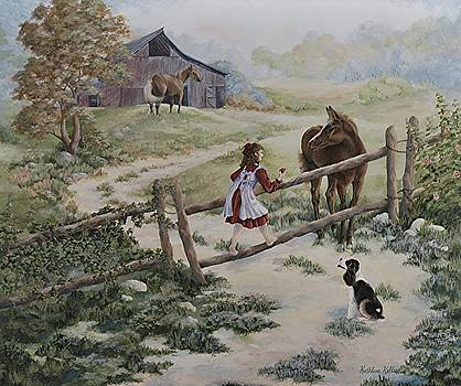 At the Farm by Kathleen Keller