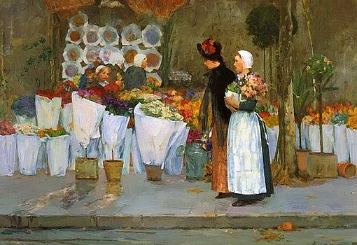 At The Florist by Hassam Childe