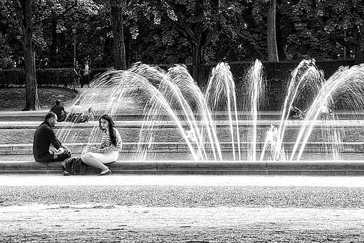 At the Fountain by Ingrid Dendievel