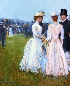 At The Grand Prix by Hassam Childe