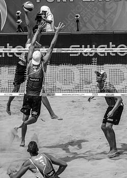 At the Net by Michael Gora
