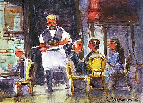 At the Restaurant  by Kristina Vardazaryan
