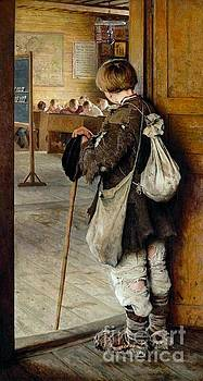 Nikolay Petrovich-Belsky - At The School Doors
