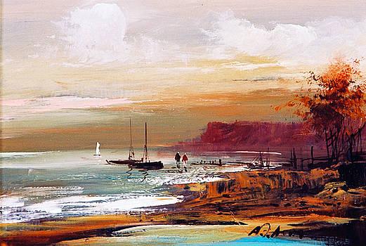 At the Sea coast by Alim Adilov
