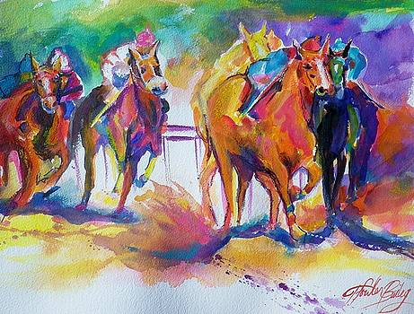 At The Track SOLD DONATION by Therese Fowler-Bailey