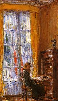 At The Writing Desk by Hassam Childe
