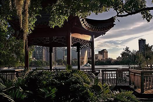 At Water's Edge - Pagoda by Lake Eola by Chrystyne Novack