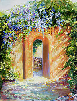 Atalaya with Wisteria by Jane Woodward