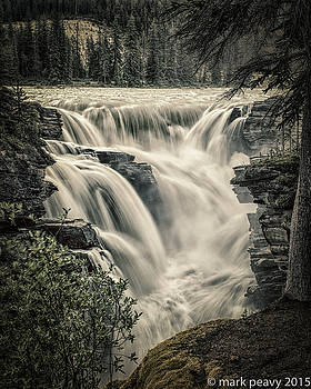 Athabasca Falls by Mark Peavy