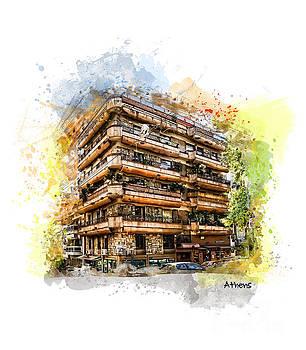 Justyna Jaszke JBJart - Athens architecture