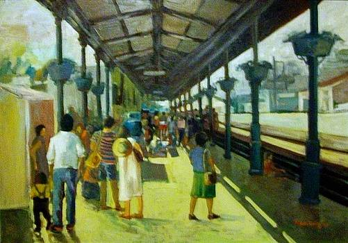 Athens railway station 1978 by George Siaba