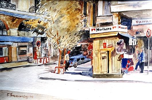 Athens street by George Siaba