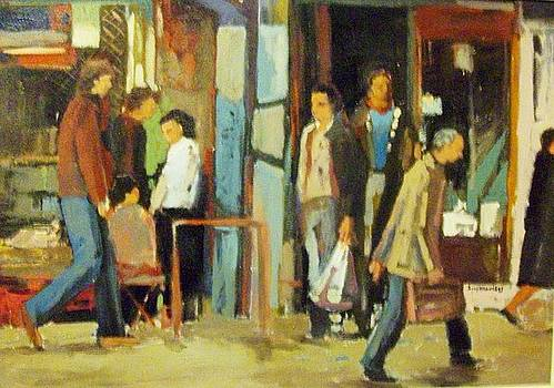 Athens street scene by George Siaba