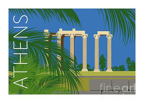 Sam Brennan - ATHENS Temple of Olympian Zeus - Blue