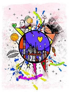 Atlanta City Popart by Nico Bielow by Nico Bielow